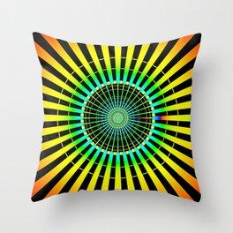 Rainbow Spokes Throw Pillow