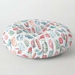 Coral Sea Pebbles Pattern Floor Pillow
