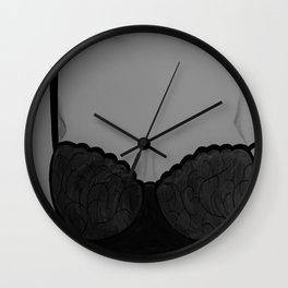 Beautiful Silhouette. Lingerie Model Original Painting by Jodi Tomer. Wall Clock