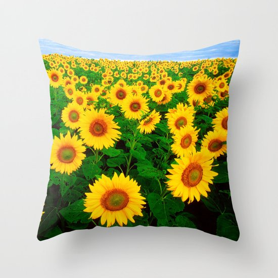 Throw Pillows With Sunflower Design : Sunflower art decoration ideas best design Throw Pillow by Follow Me Now Society6
