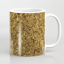Sparkling Metal Structure, golden Coffee Mug