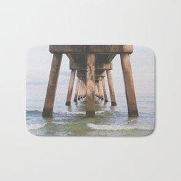 Under the Pier at Okaloosa Island Bath Mat