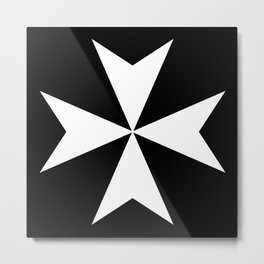 Hospitaller Cross Metal Print