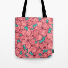 Seamless Floral Ornamental Pattern Tote Bag