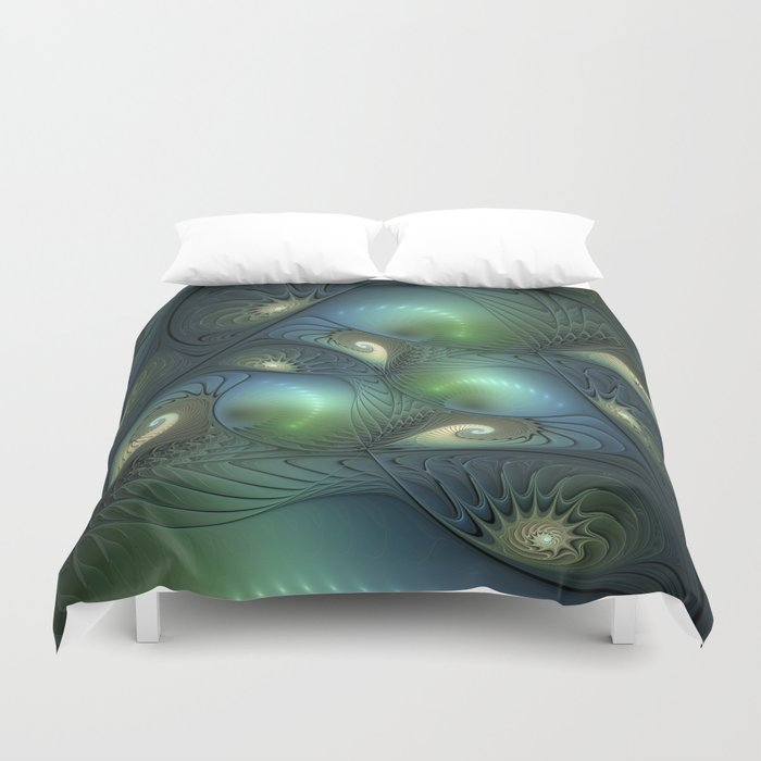 Where Spirals Live Duvet Cover