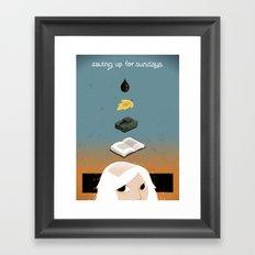 Saving up for Sunday Framed Art Print