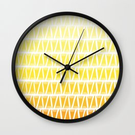 Tee Pee Yellow Gradient Wall Clock