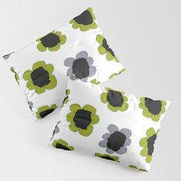 Daisies - Avocado and Slate Pillow Sham