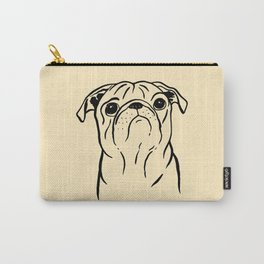 Pug (Beige and Black) Carry-All Pouch