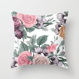 FLOWERS VIII Throw Pillow