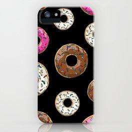 Funfetti Donuts - Black iPhone Case