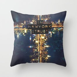 In New York I Trust Throw Pillow