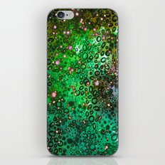 RAINBOW DOTTY OCEAN 3 Green Lime Ombre Space Galaxy Colorful Polka Dot Bubbles Abstract Painting Art iPhone & iPod Skin