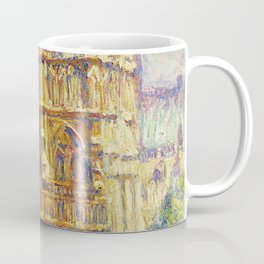 Paris, Notre Dame Cathedral, the Effect of Sunlight, French landscape by Francis Picabia Coffee Mug