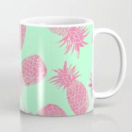 Pineapple Pattern - Mint & Crimson Coffee Mug