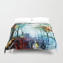 Tardis And The Street Chair Duvet Cover