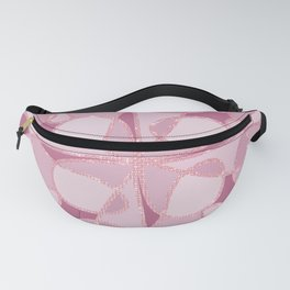 Girly Modern Artsy Pink Glitter Abstract Geometric Fanny Pack