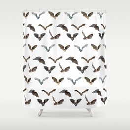 A Whole Bunch of Bats Shower Curtain