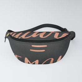 The Future is Female Pink Rose Gold on Black Fanny Pack