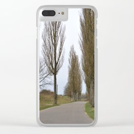 Road and trees 1 Clear iPhone Case