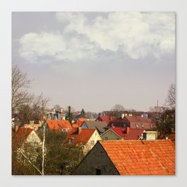 Roofs of the small town Canvas Print