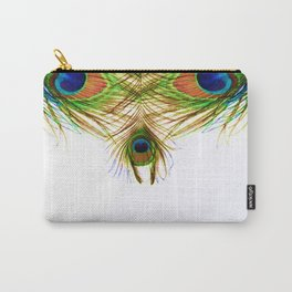 GORGEOUS BLUE-GREEN PEACOCK FEATHERS ART Carry-All Pouch