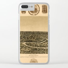 Map of Dallas 1892 Clear iPhone Case