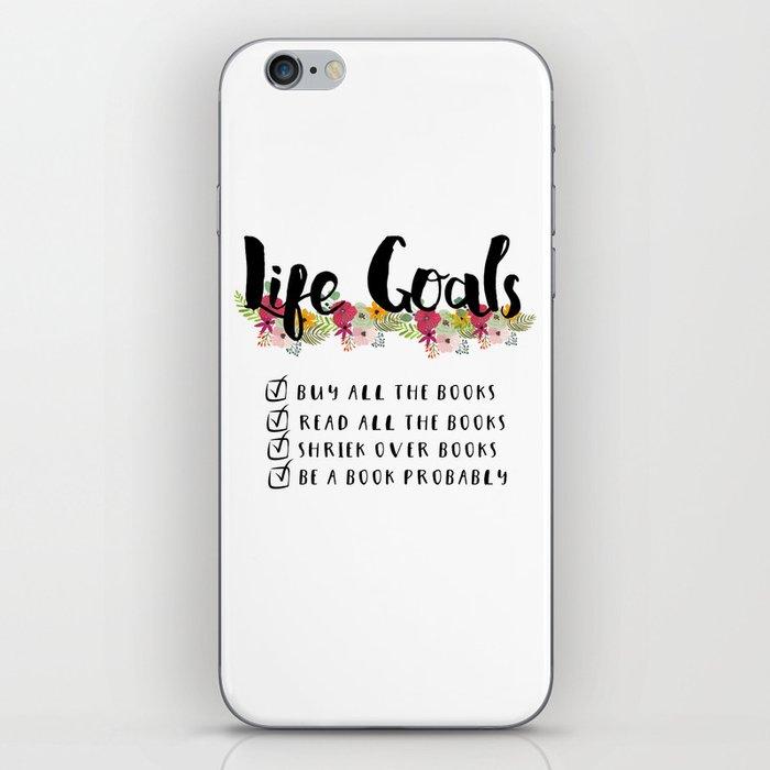 Bookworm Goals iPhone Skin