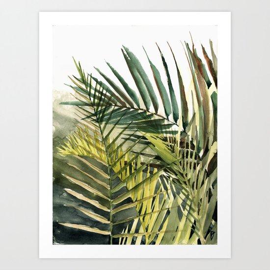 Arecaceae - household jungle #2 Art Print