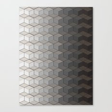 Pattern #6 Greyscale Canvas Print