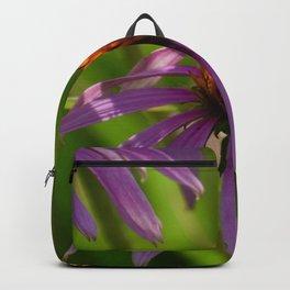 Butterfly On Purple Flower Backpack