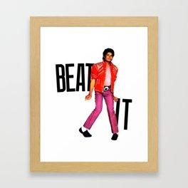 Beat It - MJ Framed Art Print