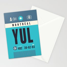 Baggage Tag A - YUL Montreal Canada Stationery Cards