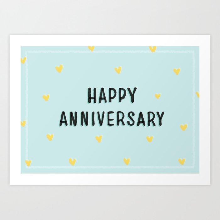 Happy Anniversary Art Print