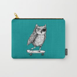 Ride On Owl_teal Carry-All Pouch