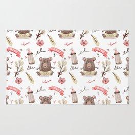 Cute Baby Pattern Bear Design. Rug
