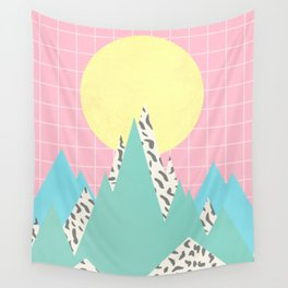 Memphis Mountains Wall Tapestry