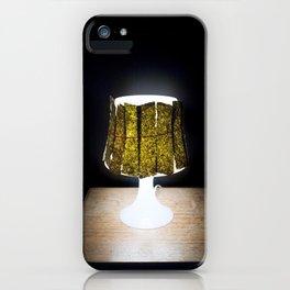 Dried Seaweed Snacks on an Ikea Lamp iPhone Case