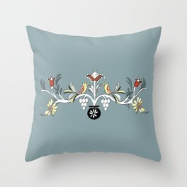 The Blue Design Throw Pillow