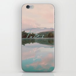 Faith - Smoky Mountains Lake at Dawn Nature Photography Quote iPhone Skin
