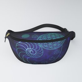 Sacred Geometry Spiral of Creation Fanny Pack