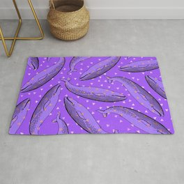 lusty whales Rug