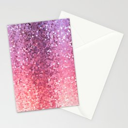 Squarely in the Realm of Glitter Abstract Stationery Cards