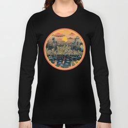 los angeles city skyline Long Sleeve T-shirt