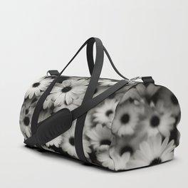 daisy, black & white Duffle Bag