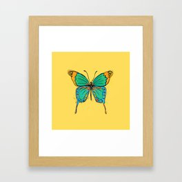Simple Colorful Butterfly Framed Art Print