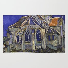 The Church at Auvers by Vincent van Gogh Rug