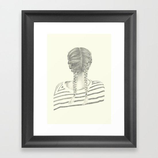 French braids 01 Framed Art Print