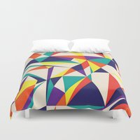 games Duvet Covers featuring Love Games by Anai Greog