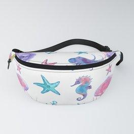 Watercolor Sea Life Fanny Pack